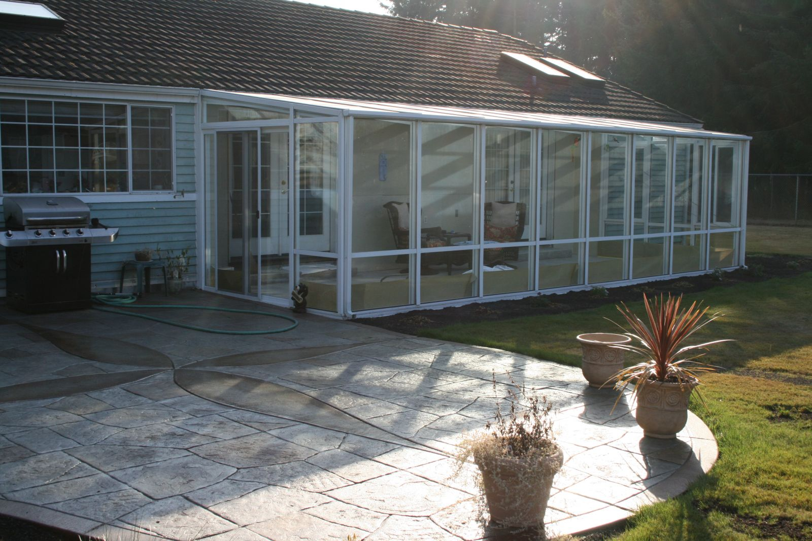 Sunroom Installation Project with Homeowner Participation